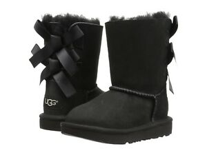 NEW TODDLER INFANT UGG BOOTS BAILEY BOW II BLACK BOOTS ORIGIN 1017394T BLK