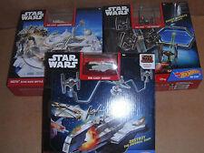 Lot of 3 Hot Wheels Star Wars Play Sets - Snowspeeder,Ghost,Fighter