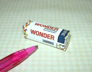 """Miniature """"Squooshy"""" Wonder Bread Loaf for DOLLHOUSE 1:12 Scale Miniatures"""