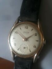 MENS 50'S GOLD PLATED HAND WIND VINTAGE LANCO CAL 1022 15 J SPARES REPAIR 29MM