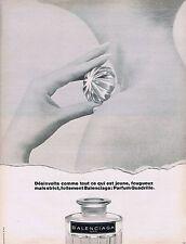 Publicité Advertising 016 1968 Balenciaga  parfum Quadrille