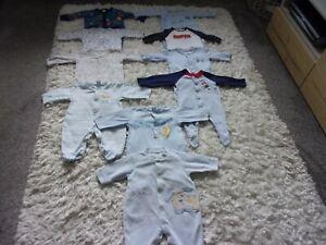 Baby Boys clothes bundle, age 0-3 months, 10 x baby grows, Next, Disney etc.