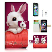 ( For iPhone 6 / 6S ) Wallet Case Cover P1247 Bunny