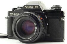MINOLTA X-500 BLACK w/ MD 50mm F/1.7 STANDARD LENS KIT SLR 35mm FILM CAMERA
