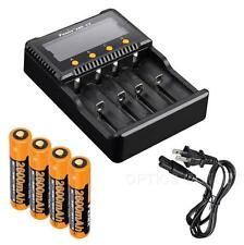 Fenix ARE-C2 Plus 4-Channel Charger w/ 4x Fenix 2600mAh 18650 for PD32 PD35 TK35