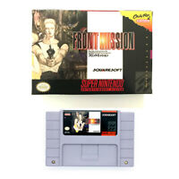 Front Mission for snes game cartridge english translated