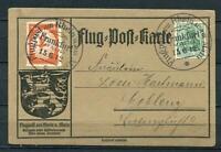 Germany 1912 Airmail Post Card Special Cancel (Frankfurt 15.6.12) RARE 2432