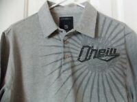 New O'Neill Mens Logo Short Sleeve Polo Shirt - Medium - Heather Gray
