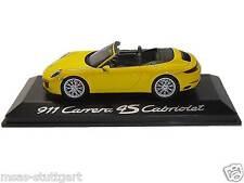 Porsche 911 Carrera 4s cabriolet jaune HERPA 1:43 wap0201090g NEUF