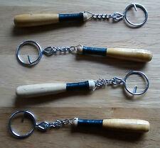 Auténtico mano tallada de madera bate de béisbol/solidos Llavero, sólo £ 3.75p cada uno!