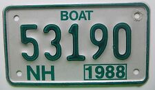 New Hampshire 1988 BOAT License Plate HIGH QUALITY # 53190