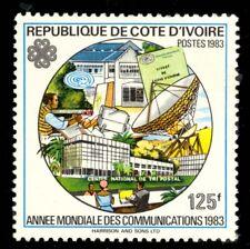 Ivory Coast #682B MNH CV$125.00 1983 125fr WORLD COMMUNICATION