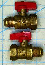 """INLINE GAS PIPE BALL VALVE 3/4"""" FLARE FEMALE FIP Gas Cock Lever Propane Natural"""