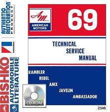 1969 AMC Javelin Rebel Ambassador Shop Service Repair Manual CD