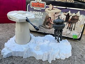 Vintage Star Wars ESB Hoth Turret and Imperial Droid Playset Complete with Box