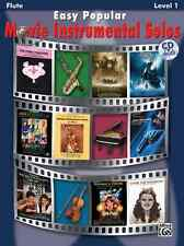 """EASY POPULAR MOVIE INSTRUMENTAL SOLOS"" FLUTE MUSIC BOOK BRAND NEW ON SALE!!"