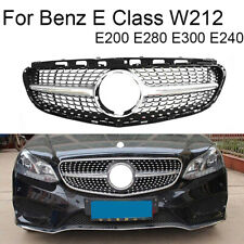 Front Racing Diamond Grills Billet Bumper Grille Cover For Mercedes E Class W212