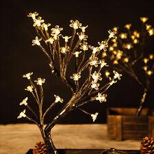 "2 pcs 18"" Led Lights Warm White Cherry Blossom Trees Wedding Party Decorations"