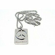 Stainless Steel Peace Dog Tag Necklace Jnp X Dj0739 Dolce & Gabbana