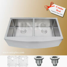 "Super Combo Deal !!! 36"" Farm Apron Double Stainless Steel Kitchen Sink KAR3621D"