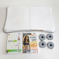 Nintendo Wii Balance Board Bundle With 2 games Wii Fit Jillian Michaels 2011