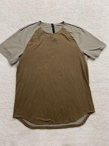 Lululemon brown mesh back athletic shirt men's size XL