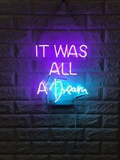 "New It Was All A Dream Acrylic Gift Light Lamp Bar Wall Room Decor 13""x12"""