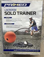 Primed Lacrosse Solo Trainer Base, Rebound Cord, 2 Lacrosse Balls