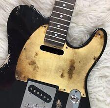 Pickguard Fender Telecaster style GOLD LEAF foglia d'oro aged RELIC S battipenna