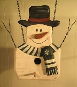 """""""SNOWMAN BIRDHOUSE"""" Replacement Sign - Wood Sign for Country Arrow Holders"""