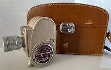Stunning Vintage Bell & Howell 605 Double Run 8mm Clockwork Cine Camera & Case