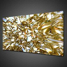 More details for beautiful abstract gold crystal glass canvas print wall art picture photo
