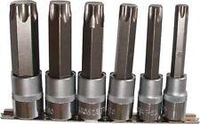 """Torx S2 Stahl Nuss Bits Steckschlüssel Satz 1/2"""" T55 T60 T70 T80 T90 T100 Set"""