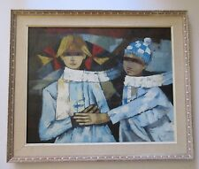 FINEST CESARINO MONTI OIL PAINTING MID CENTURY MODERN ABSTRACT CUBISM VINTAGE