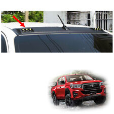 Front DRL Roof Spoiler With LEDs Matte Black For Toyota Hilux Revo Rocco 18 19