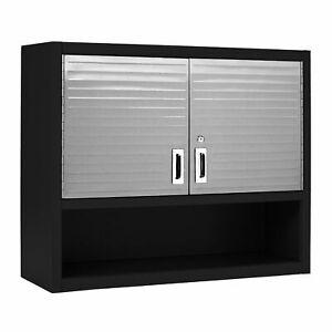 Garage 2 Door Wall Cabinet New Seville Cupboard Office Lockable Storage 20212B