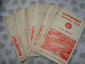 Full season of Aldershot 1967-68 home programmes - 26 programmes in all