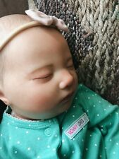 REBORN Realistic Newborn Baby Girl Laila With Pierced Ears and Hand Painted Hair