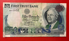 More details for first trust bank belfast £50 pound note - serial no:aa915452. 01/01/1998