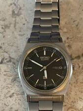 Vintage SEIKO 8C23 Quartz Stainless Steel Wrist Watch - Works