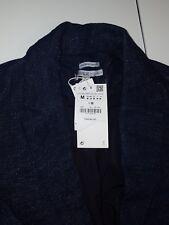 Zara Trafaluc Blue Denim Jean Jacket Dark Wash  Casual Blazer Coat Sz. Medium