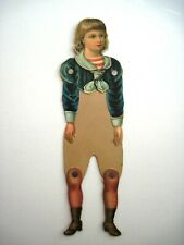 1800's Paper Doll w/ Movable Joints w/ Die Cut Head, Sailor Suit and Boots  *