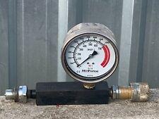 Hi Force Hydraulic Inline Pressure Gauge 10,000 psi 700 BAR
