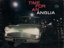 Ford Anglia 105E Saloon 1961-63 UK Market Sales Brochure Standard De Luxe