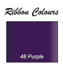 Personalised Purple 10mm Printed Ribbon Birthday Christmas Wedding Anniversary ,