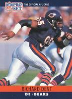 Richard Dent 1990 Pro Set #52 Chicago Bears football card