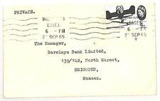 AI20 1965 GB transorma * 32 * Macchina di smistamento di prova TIMBRO POSTALE Brighton BANK COVER