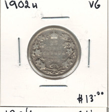 Canada 1902H Silver 25 Cents VG Lot#2