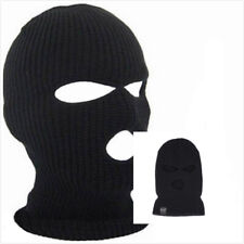 Ski Mask Beanie 3-Hole Knitted Cap Hat Comfort Warm Face Winter Snow Mens Womens