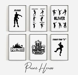 Fort Floss Print Dance Sketch Picture Children Nursery Gaming nite Art